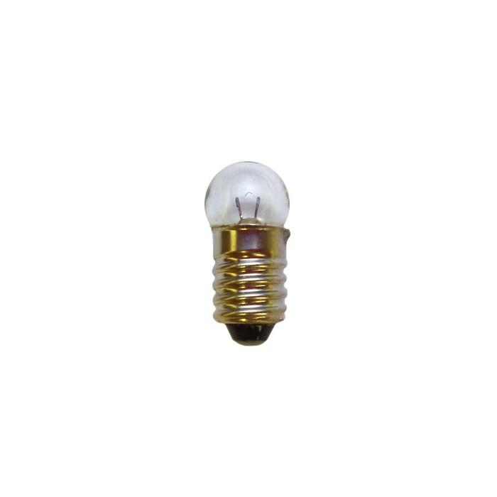Ampoule à culot E10 de 10mm. Tension et globe: 6V / 0,1 A / 11mm
