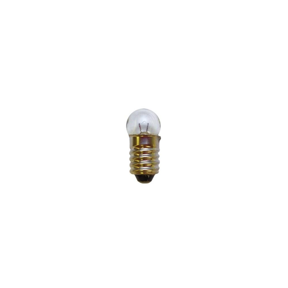 Ampoule à culot E10 de 10mm. Tension et globe: 4,5V / 0,2 A / 11mm