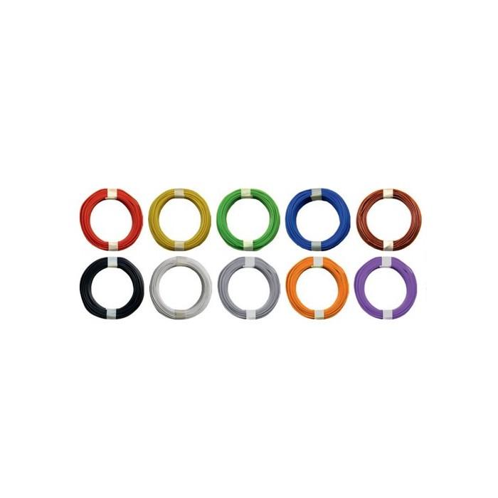 Fil ultra fin de couleur, couronne de 10m section 0,04 mm. Ø extérieur: 0,5 mm