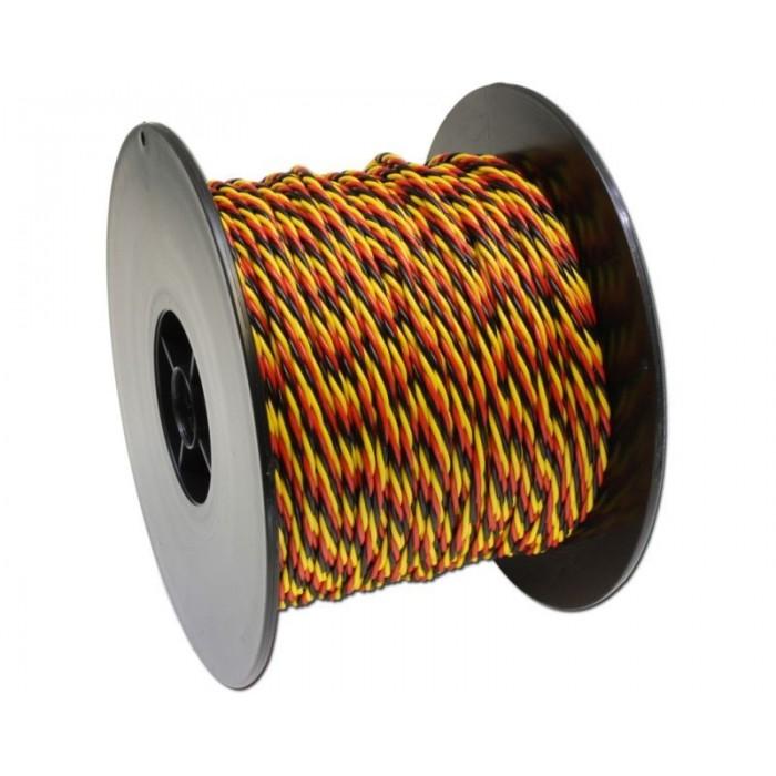 Câble MPX 3x0,5mm2 jaune rouge noir. Prix au mètre