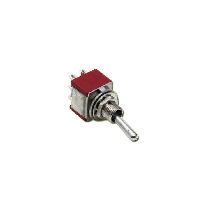 Interrupteur à 3 positions (Position centrale). M/A/M 2A 250VAC 2 pôles
