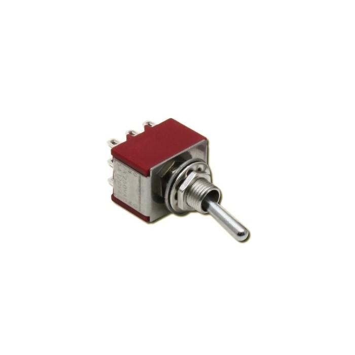 Interrupteur à 3 positions (Position centrale). M/A/M 2A 250VAC 3 pôles