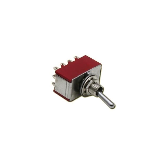 Interrupteur à 3 positions (Position centrale). M/A/M 2A 250VAC 4 pôles