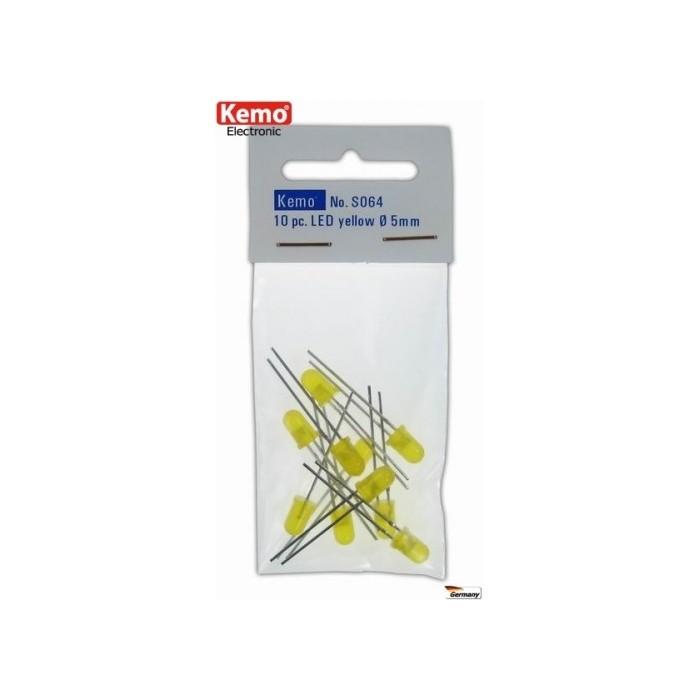 LED jaune Ø 5 mm. Environ 10 pièces