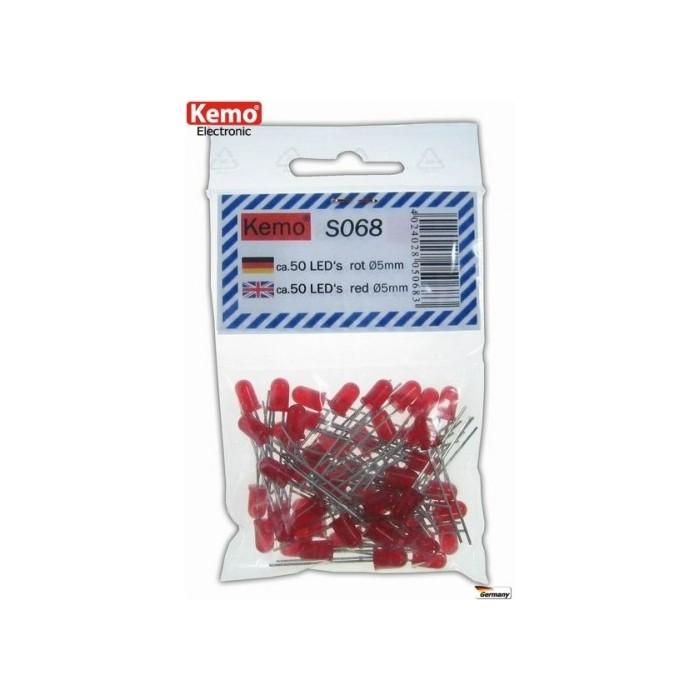 LED rouge Ø 5 mm. Environ 50 pièces