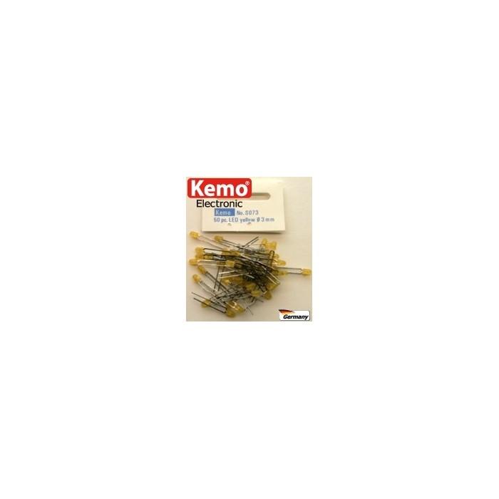 LED jaune Ø 3 mm. Environ 50 pièces
