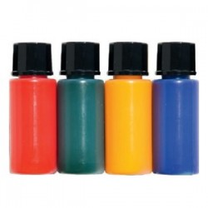 Jeu de 4 flacons de colorants pour ampoules