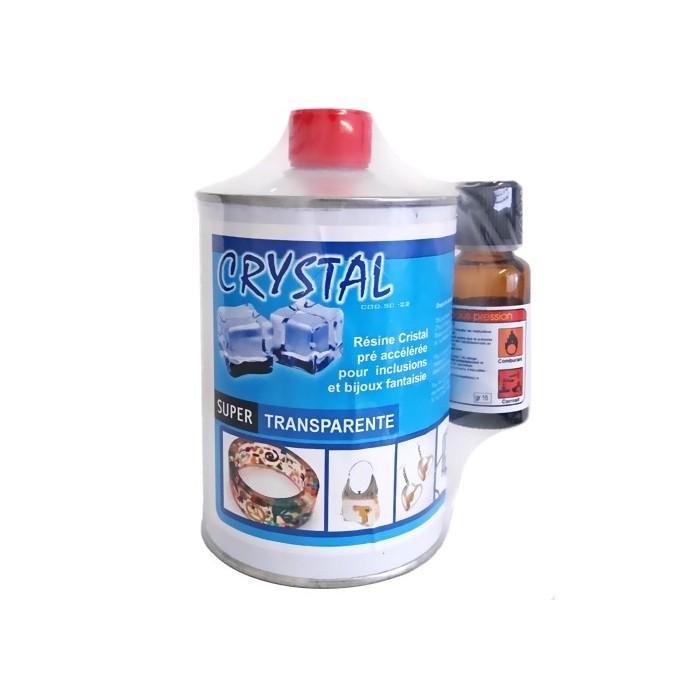 Resine polyester Crystal SC-22 transparente avec cata. 500g