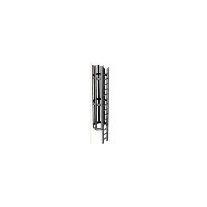 Plastruct : échelle avec cage pour échelle HO