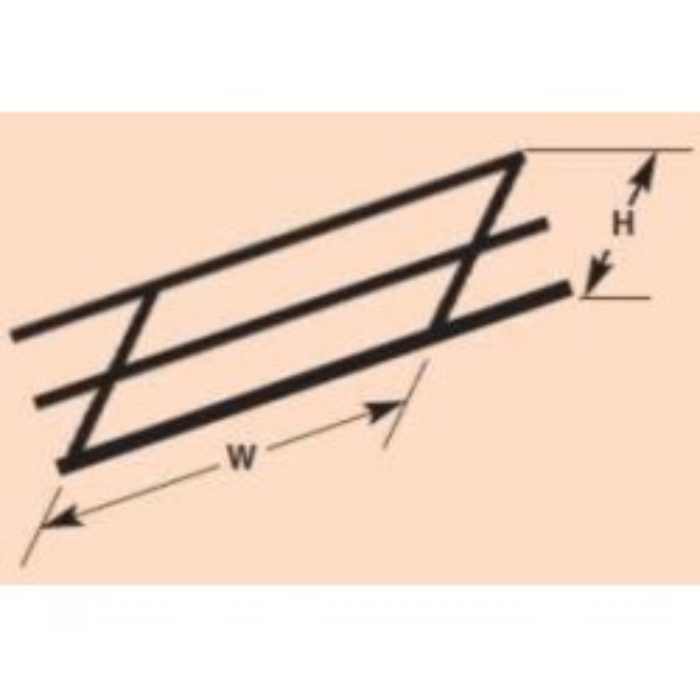 Plastruct : Sachet de 2 rambardes latérales HO
