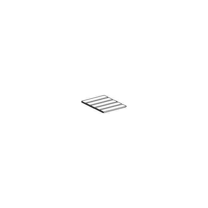Plaque de styrène blanche wagon marchandises 150x300x0,5mm espacement des fentes de 1,5 mm