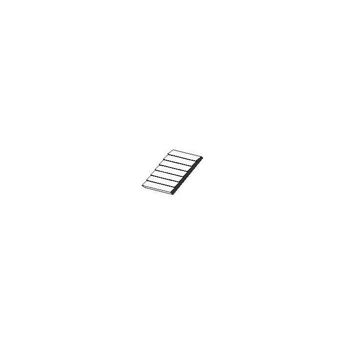 Planches superposées Plaque de styrène blanche 150x300x1mm espacement de 1 mm