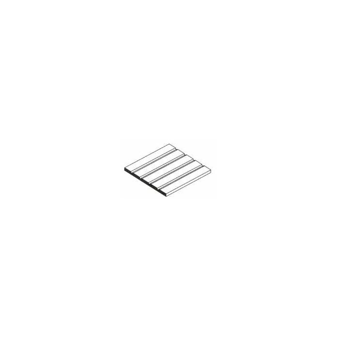 Plaque de styrène blanche de bardage 150x300x1mm espacement des fentes 1,50 mm