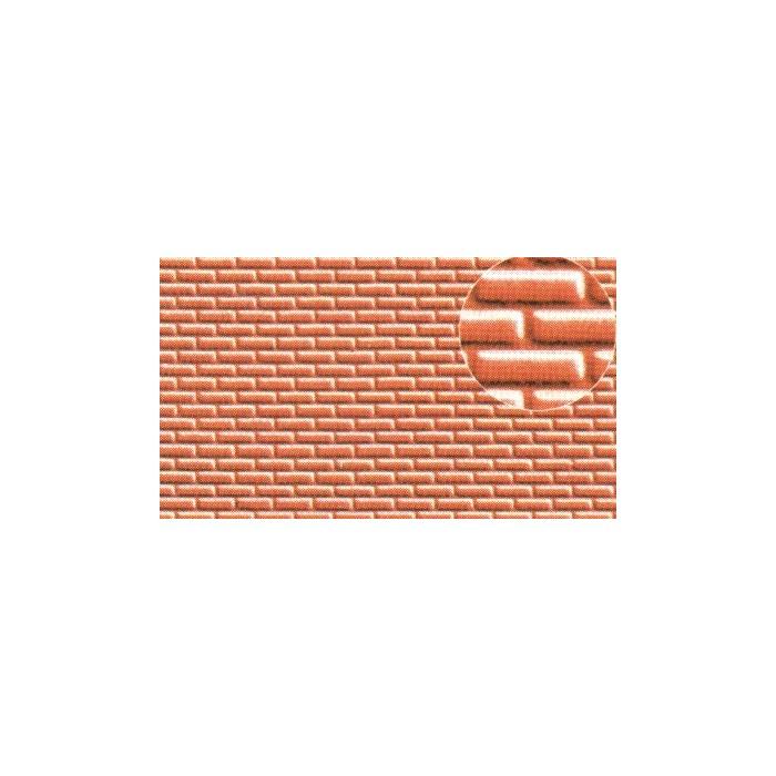 Echelle HO ou N les briques font environ 1x2,5 mm. Une patine es