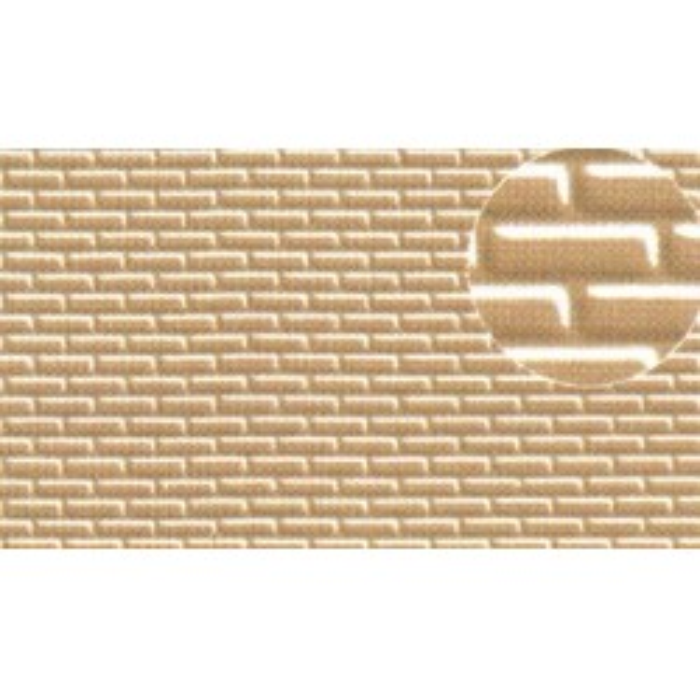 Echelle HO ou O les briques font environ 2x5,5 mm. Une patine es