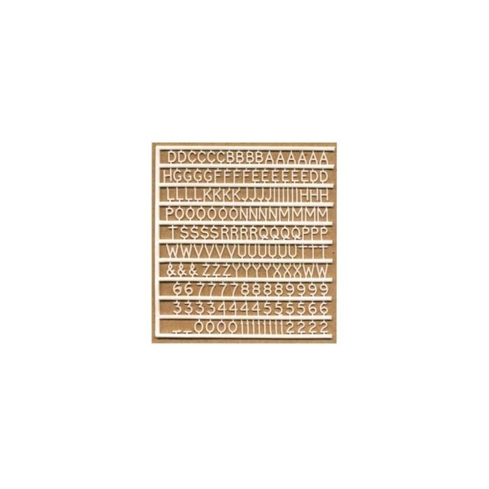 Planche de lettres de 2 mm de haut