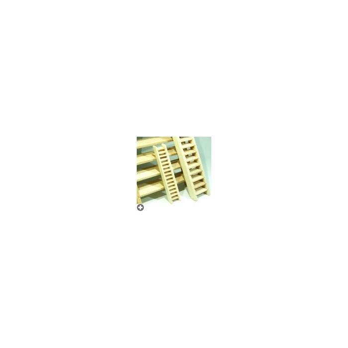 Sachet de 2 escaliers en bois à monter et coller.