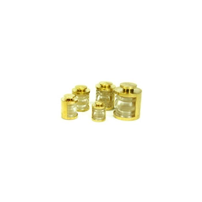 Lanternes 9mm 180° Couleur : Transparente. 2 pièces