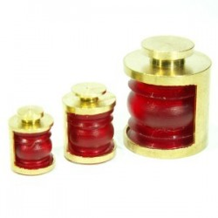 Lanternes 9mm 180° Couleur : Rouge. 2 pièces