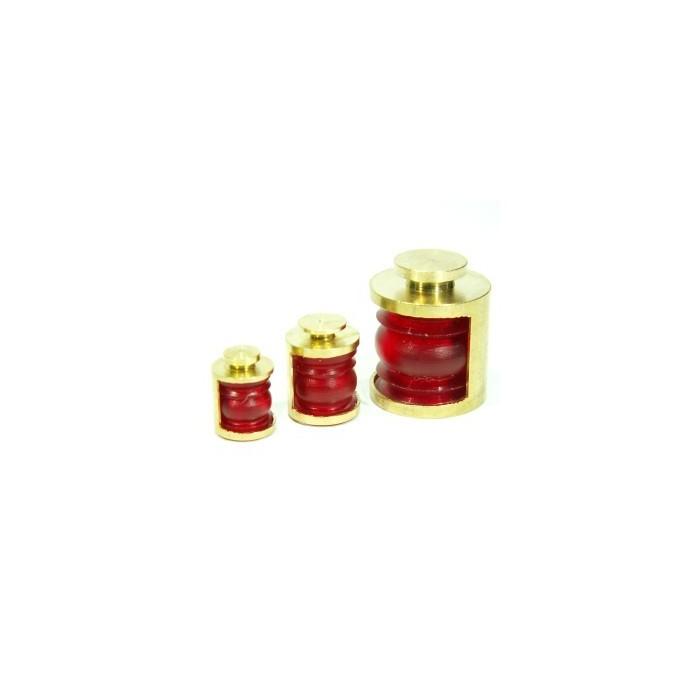 Lanternes 10mm 180° Couleur : Rouge. 2 pièces