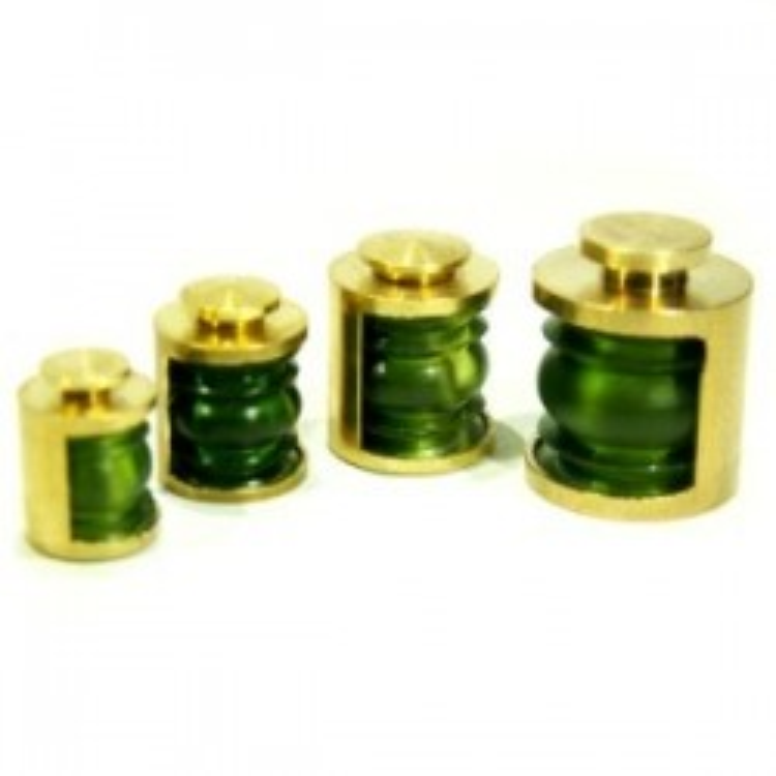 Lanterne 9 mm 180° verte, la pièce