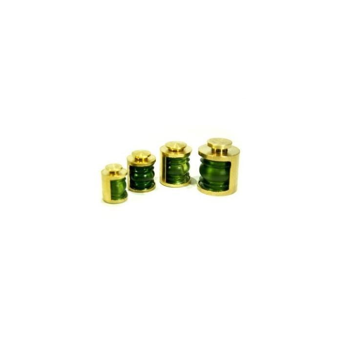 Lanternes 9mm 180° Couleur : Vert. 2 pièces