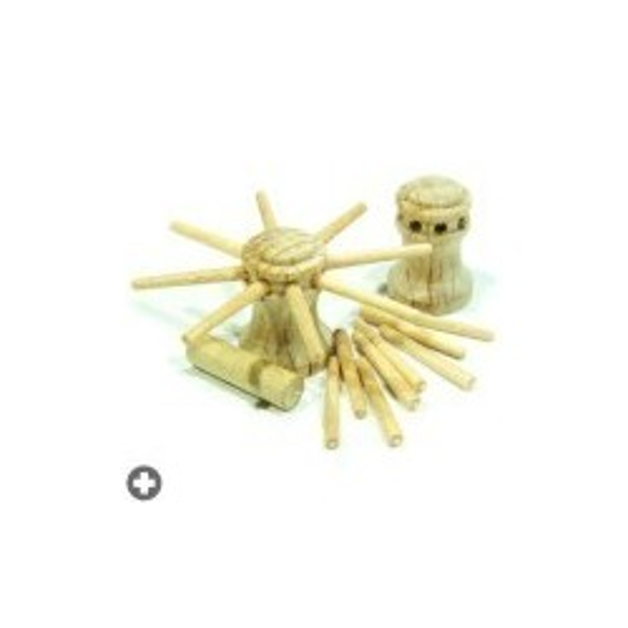 Cabestan entièrement en bois, pièces à assembler.