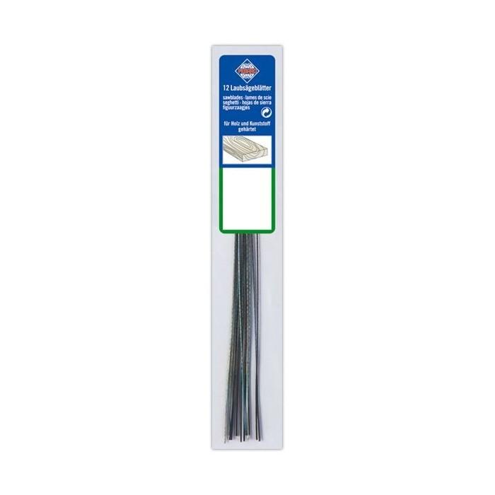 Paquet de 12 lames 130 mm bois pour scie à chantourner