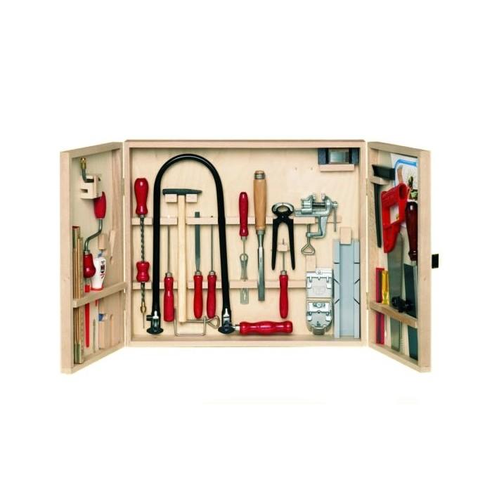 Set complet d'outils professionnels pour le travail du bois