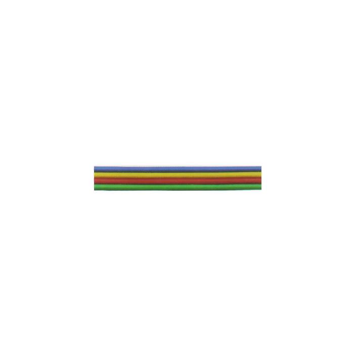 Câble méplat souple à 4 fils de couleur de 0,14mm²