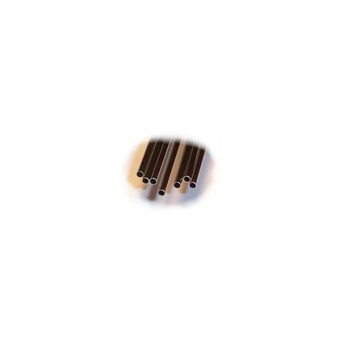 4 tubes inox. Diamètre ext: 2,10 mm, Epaisseur: 0,2 mm, Longueur: 23 cm