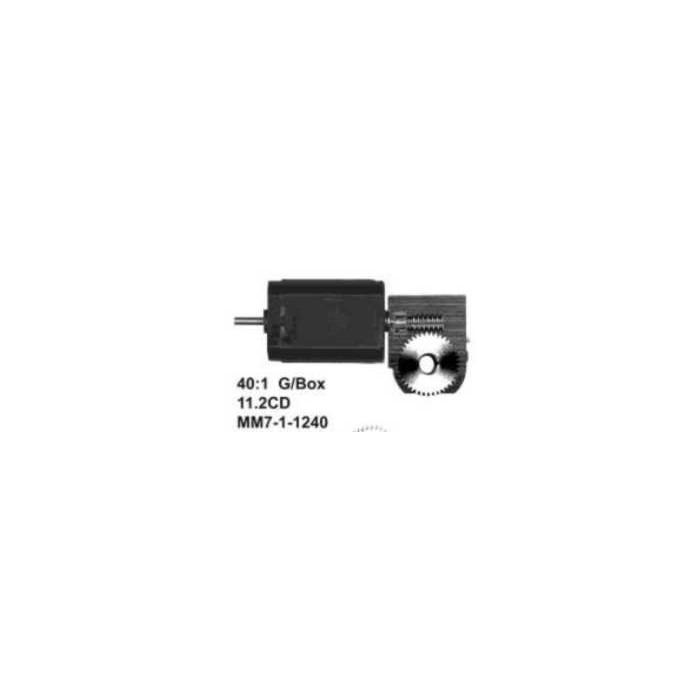 """Ensemble Romford. Réduction 40:1 Axe moteur 2,0mm, Axe de sortie 3/16"""""""