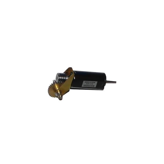 """Réducteur complet. Réduction 40:1, Axe moteur 2,0 mm, Axe de sortie 1/8"""", Module 0,3"""
