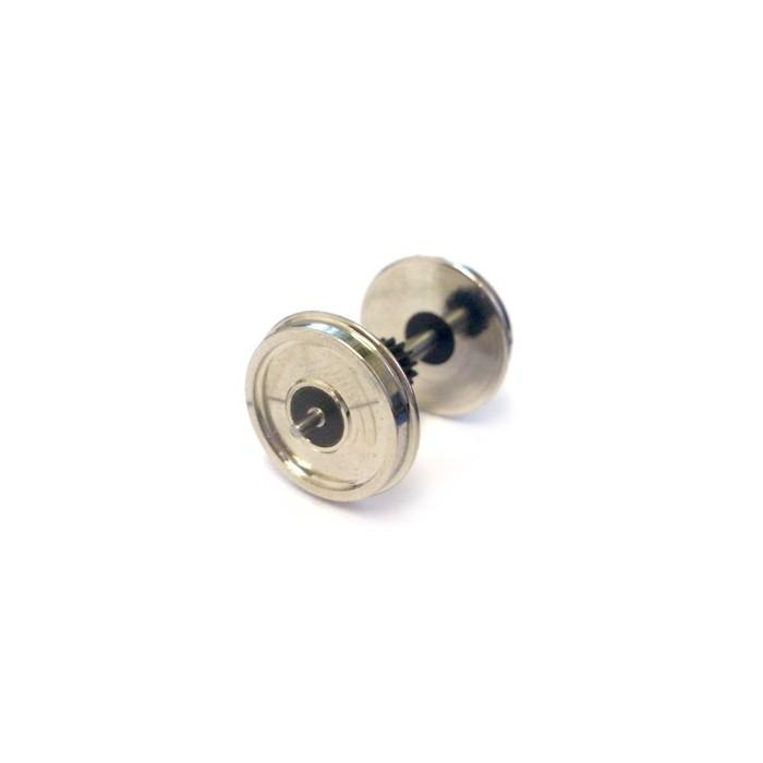 Axe, pignon central et 2 roues montées. Roues: Pleines, Diamètre: 10,5mm