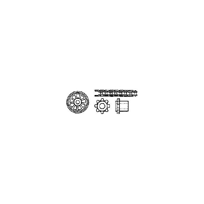 """Kit transmission à chaîne (1 chaine L 165 mm et 2 pignons 1/8"""" à 8 dents)"""