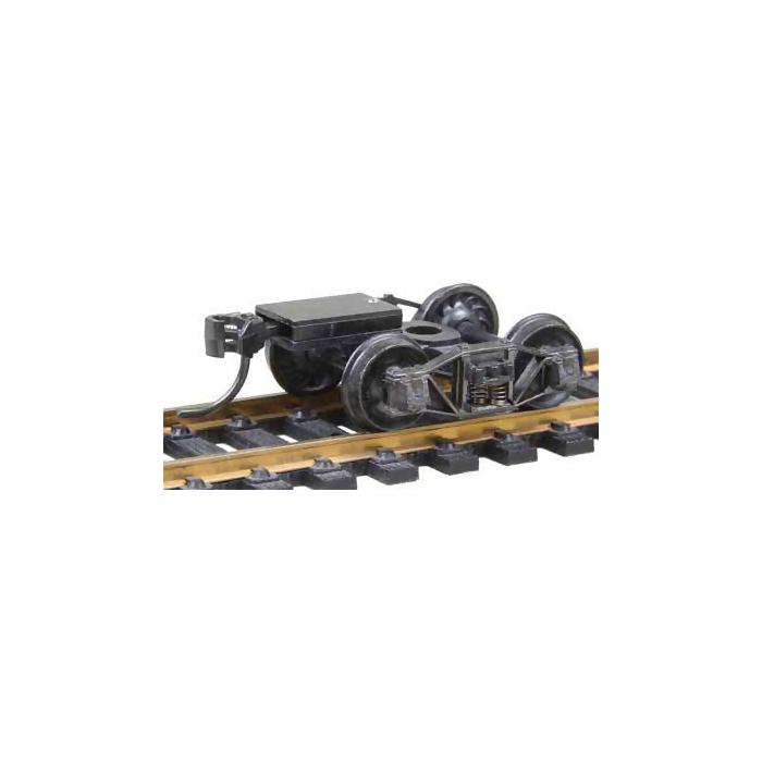"""HO / Bogie de wagon TP """"Arch Bar"""" standard avec coupleurs prêts à monter. La paire"""