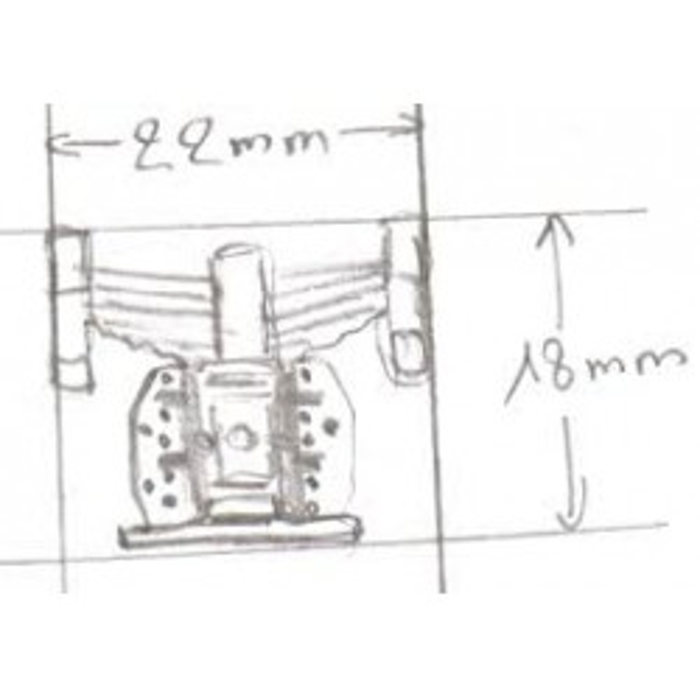 Au 1/43, jeu de suspensions et boite à essieux pour détailler un