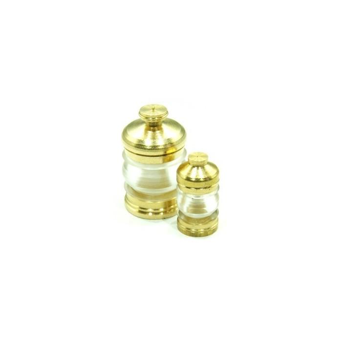 Lanternes 18,5mm 380° Couleur : transparent. 2 pièces