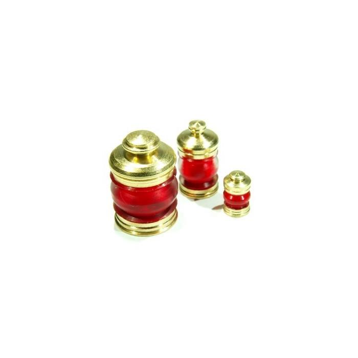 Lanternes 6mm 380° Couleur : Rouge. 2 pièces