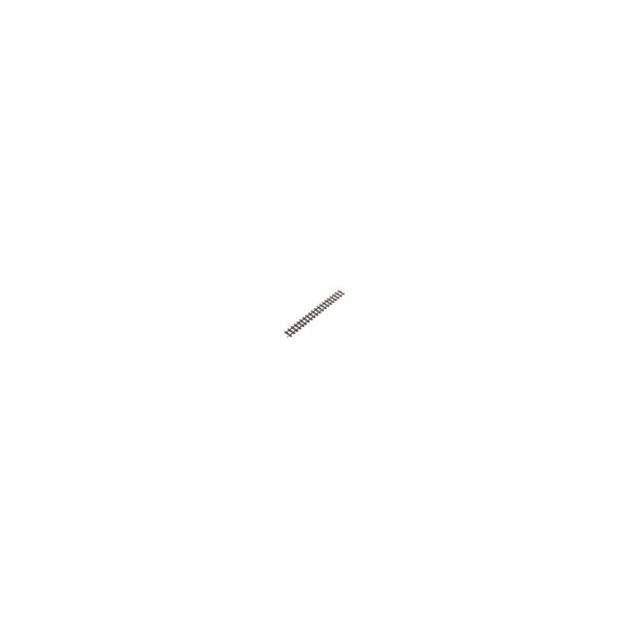 Coffret de 4 rails droits éclissés de 174mm