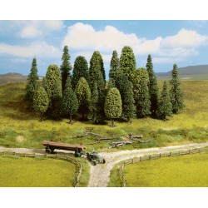Assortiments d'arbres mixtes de forêt, pour échelle N et Z. 25 pièces