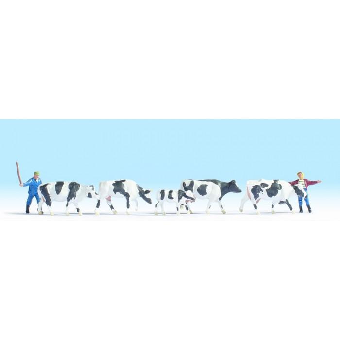 H0 / Gardiens et troupeau de vaches