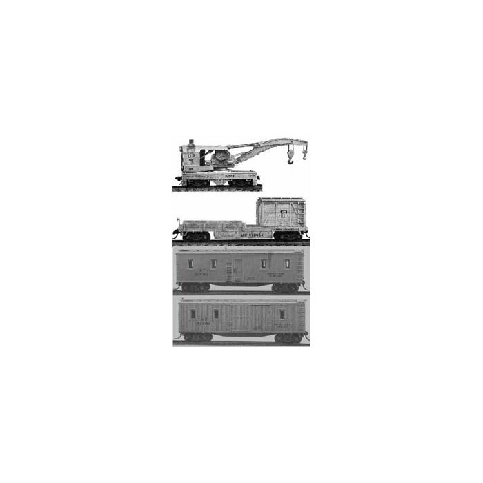 Grue et 3 wagons N Tichy