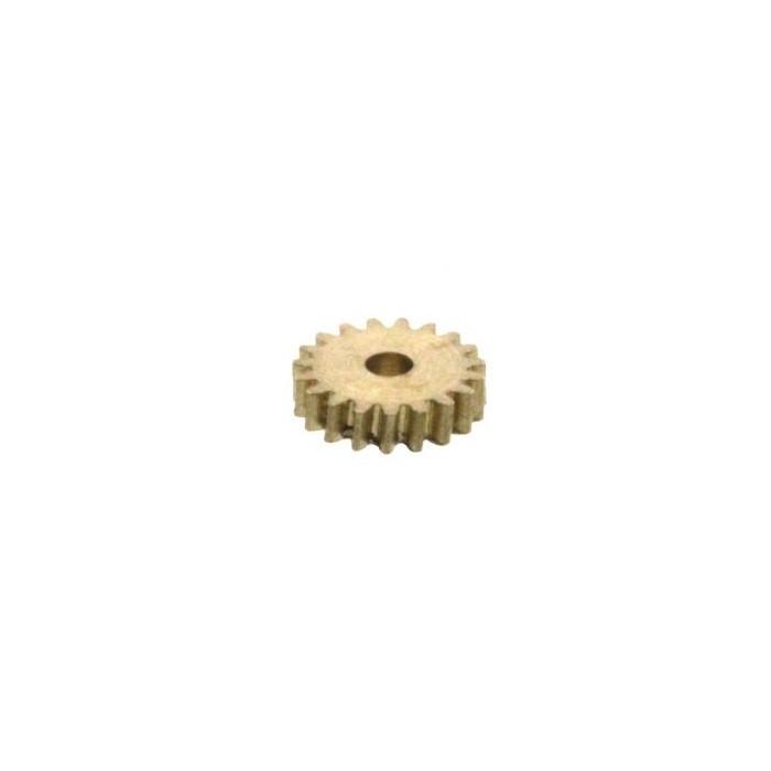 Pignon en laiton. Nbre de dents: 19. do -, dk 4,2, D -, b 1, H 0, d 1