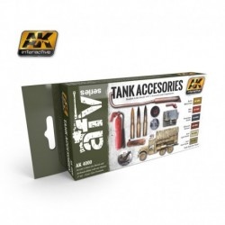 AK4000 AFV Tank Accessories Set (Acrylic Paint Set)