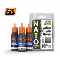 AK4001 AFV NATO Colors Set (Acrylic Paint Set)