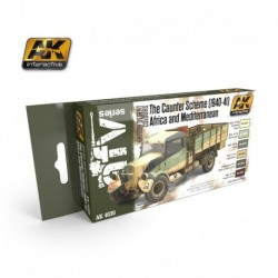 AK4030 AFV The Caunter Scheme (1940-41) Africa and Mediterranean (Acrylic Paint Set)