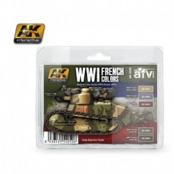 AK4050 AFV WWI French Colors (Acrylic Paint Set)