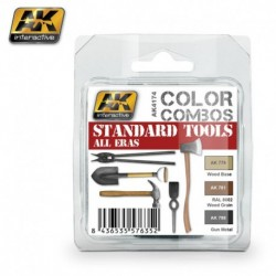 AK4174 Standard Tools All Eras (Acrylic Paint Set)