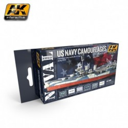 AK5000 NAVAL Series US NAVY Camouflages (Acrylic Paint Set)